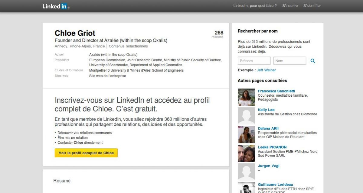 Azaleecrit sur Linked