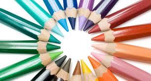 Palette d' Ecriture et crayons de couleur