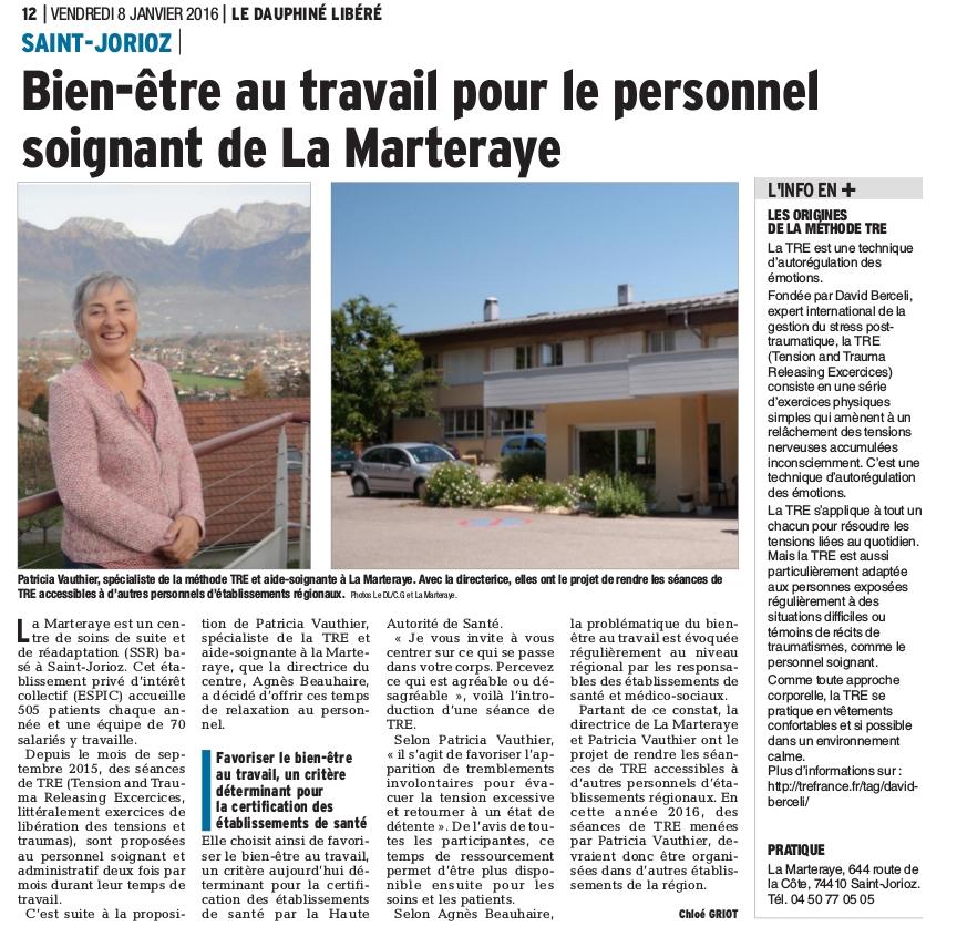 Présentation de la méthode TRE à La Marteraye (74)