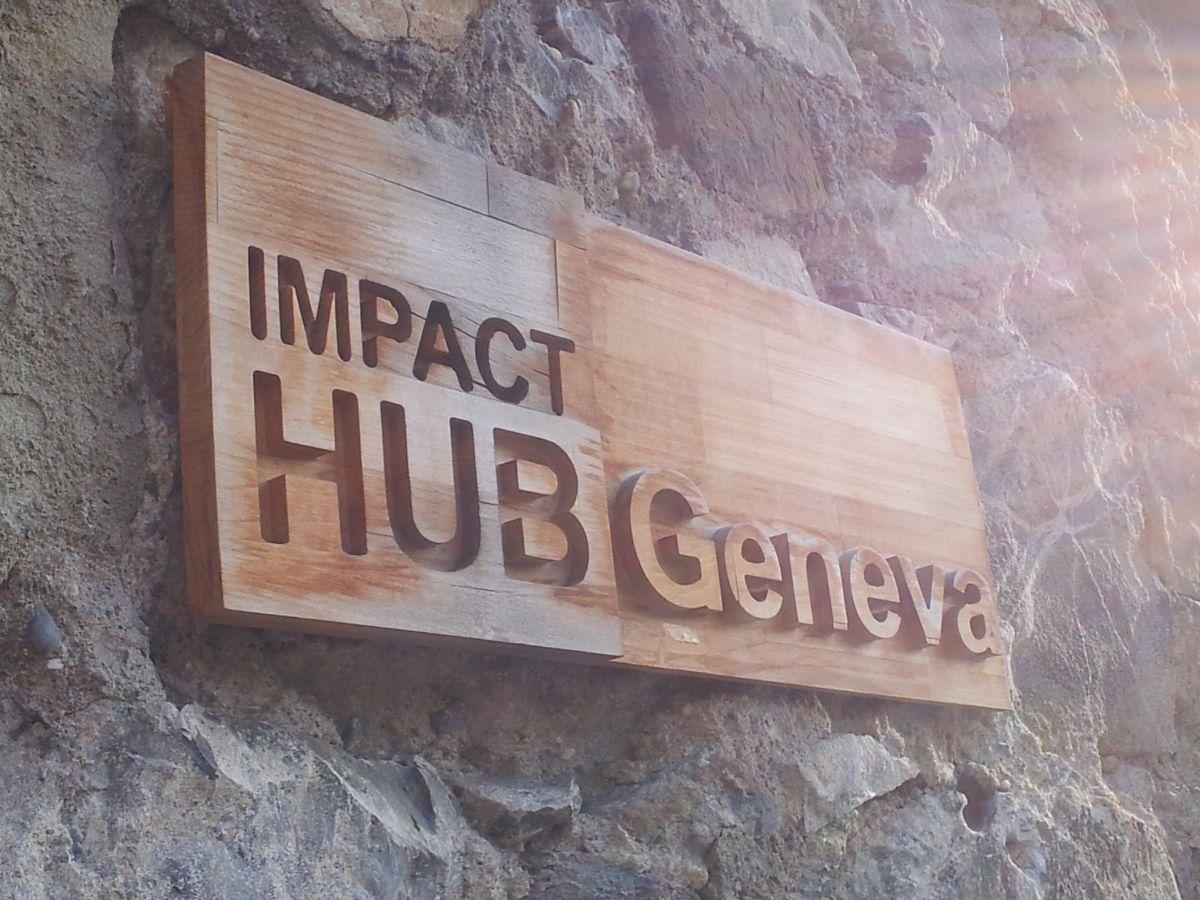 Entrée de Impact Hub à Genève